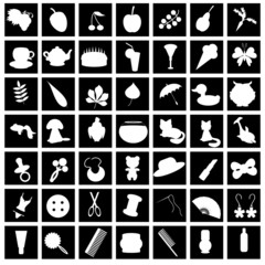 set with many different icons