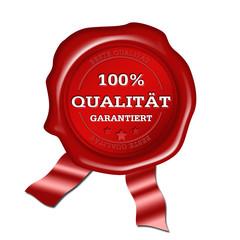 100 Prozent Qualität Siegel, button