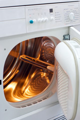 laundry machine with internal light