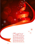 Fototapety Christmas background with fir made of ribbon