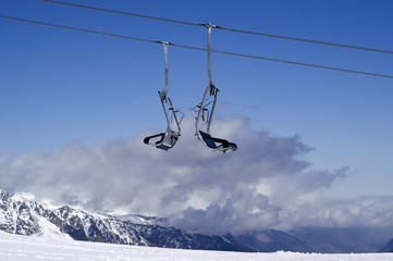 Chair-lift. Ski resort.
