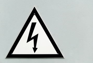 Sign 'High voltage' on the transformer