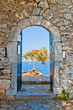 Gate in Palamidi fortress, Nafplio, Greece