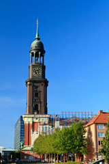 Michael church in Hamburg, Germany