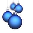 Weihnachtskugeln Hintergrund 11 blau