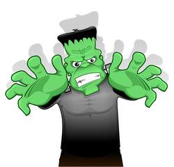 Frankenstein on white background
