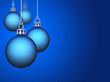 Blauer Weihnachtskugeln Hintergrund