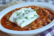 White fish with spicy beans