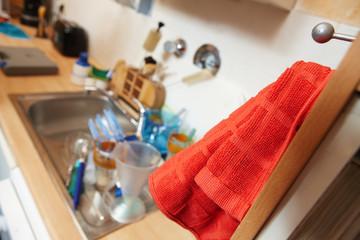 Spülbecken in der Küche