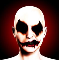 Evil Psychotic Female Clown