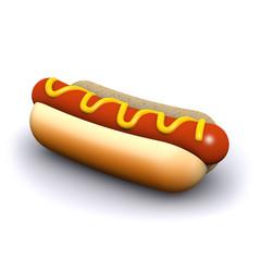 3d Hot dog at rest