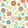 fly and flowers pattern