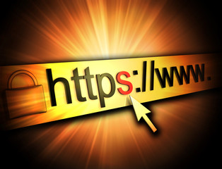 https secured web page