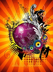 party ball vector illustration