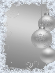 Christmas background silver white