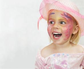 Mädchen im Kinder-Karneval