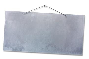empty aluminum sheet - clipping path