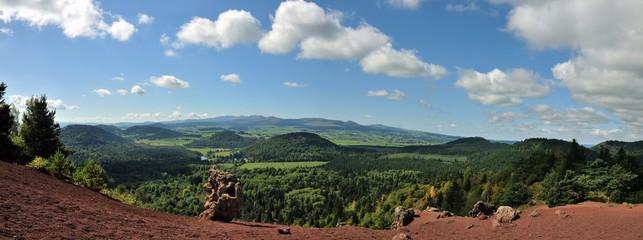 Vue du Puy de la Vache, Auvergne