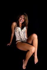 Smiling Ligerie Model