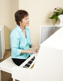 Pianist Playing Church Hymns poster