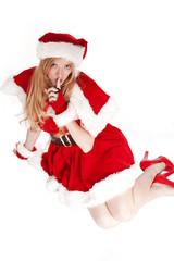 Mrs Santa shhh sitting