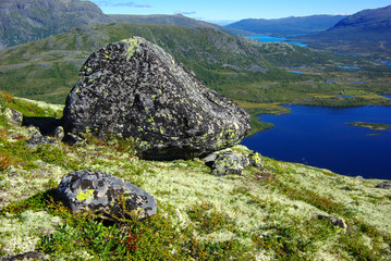 Picturesque Norway mountain landscape.