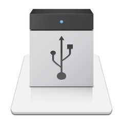 USB Hard Drive Icon