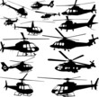 helicopters collection - vector - 26955619