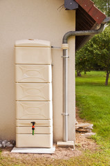 Réservoir récupérateur d'eau de pluie
