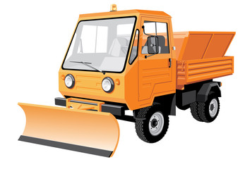 Vector isolated Street sweeper v2