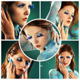 Beauty Collage Bodypainting and Nails