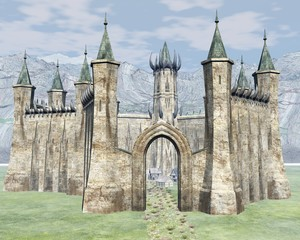 Der Weg in die Burg