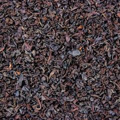 Detailed Black Tea Leaf Texture Macro Background