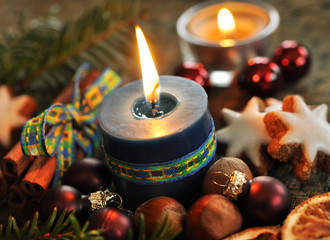 Zimt, Kerzen, Xmas