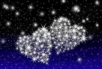 Valentins-Nachthimmel