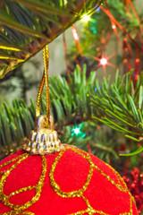 closeup of christmas ball