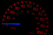 Speedometer on black isolated