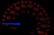 Speedometer on black isolated