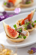 appetizer with fig and pate