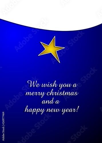 Weihnachtskarte blau englisch von zavadil lizenzfreies - Weihnachtskarte englisch ...