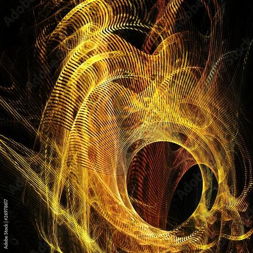 Foto op Canvas Fractal waves hintergrund