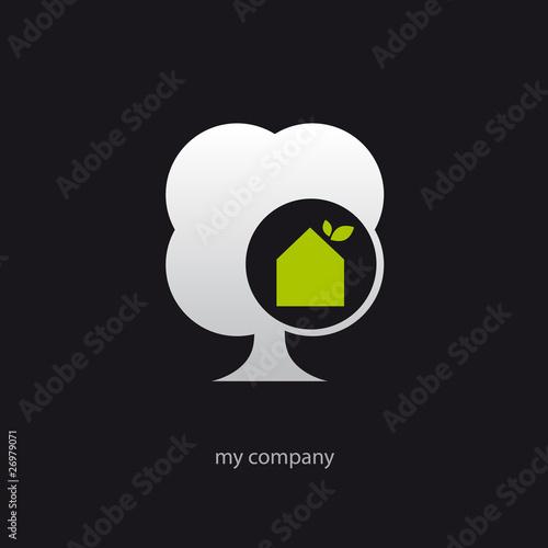 logo entreprise maison bois arbre de logostylish fichier vectoriel libre de droits 26979071. Black Bedroom Furniture Sets. Home Design Ideas