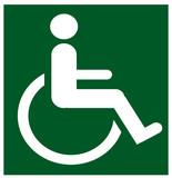 disabled refuge sign poster