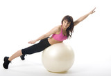 woman with fitball
