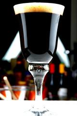 Glass of Irish Beer on the Bar