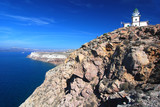 Santorini lighthouse and caldera view