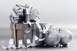 Fototapety silver christmas gift