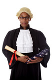 Young african. American judge man.