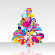 Colored vector Christmas tree.