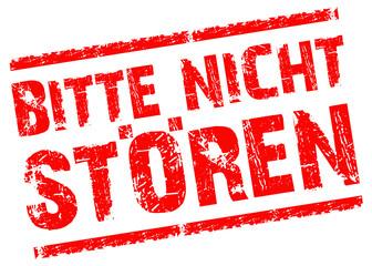 Stempel_BITTE NICHT STÖREN